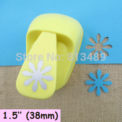 free shipping 38mm Flower paper cutter diy craft punch hole punch shapes perfuradores de papel decorative arts and crafts S3028 free shipping t shape hole punch shapes furadores hardballs pvc card plier 30x6mm stationery supply
