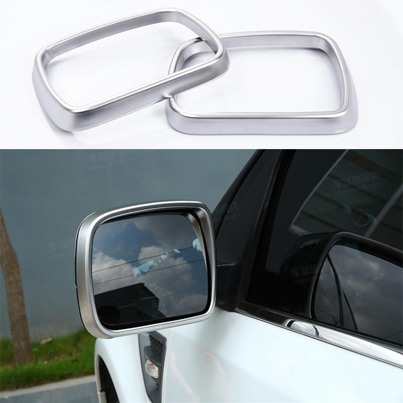 2pcs Chrome Outer Look Rearview Mirror Decorator Frame Trim For Land Rover Range Rover Freelander 2 / LR2 2007-2015