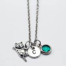 A to Z Cat Initial Necklace