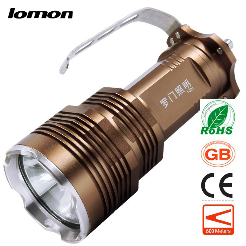 LED Flashlight Handheld Portable Rechargeable Torch handy Searchlight+4 x 18650 Battery +Charge High Power Camping Searchlight high power cree led hand lamp focus adjustable outdoor camping searchlight waterproof rechargeable hand lamp by 2 18650 torch
