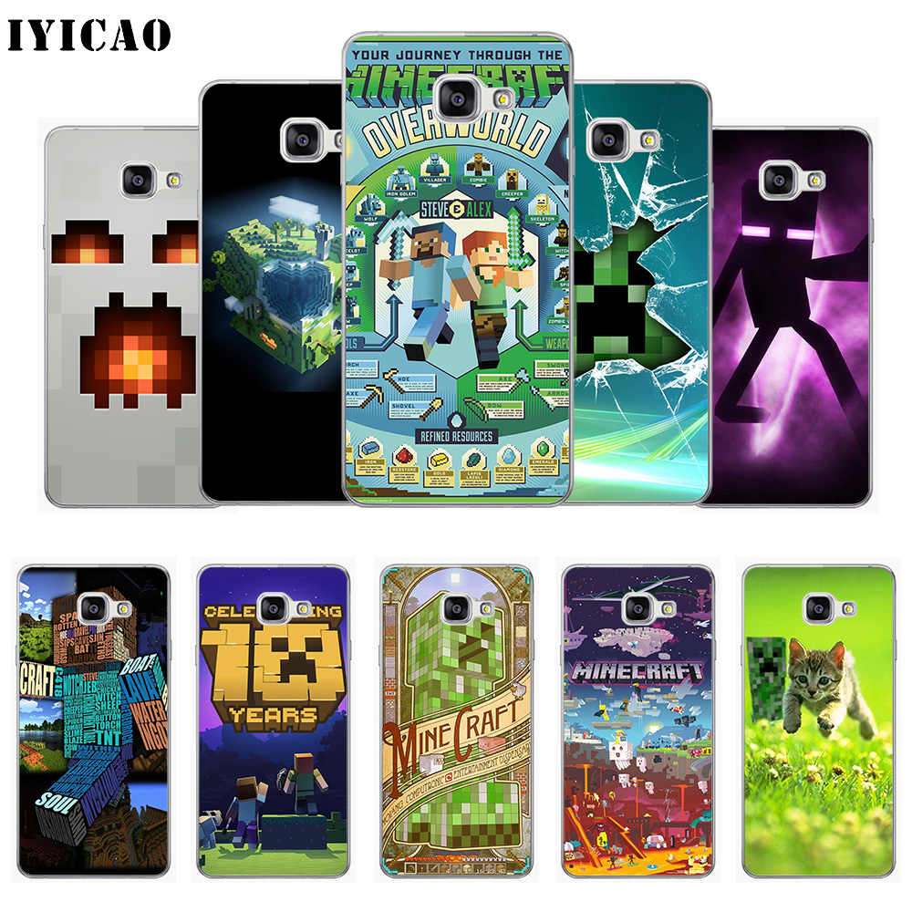 IYICAO Minecraft World game Soft Silicone Phone Case for Samsung A10 A30 A40 A50 A70 M10 M20 M30 TPU Cover
