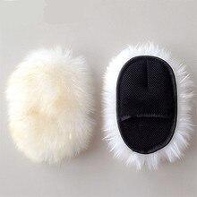 Super Long Hair Breathability Mesh Paws Sheepskin Car Washing Cleaning Polishing Gloves Luxury Lamb Wool Glove