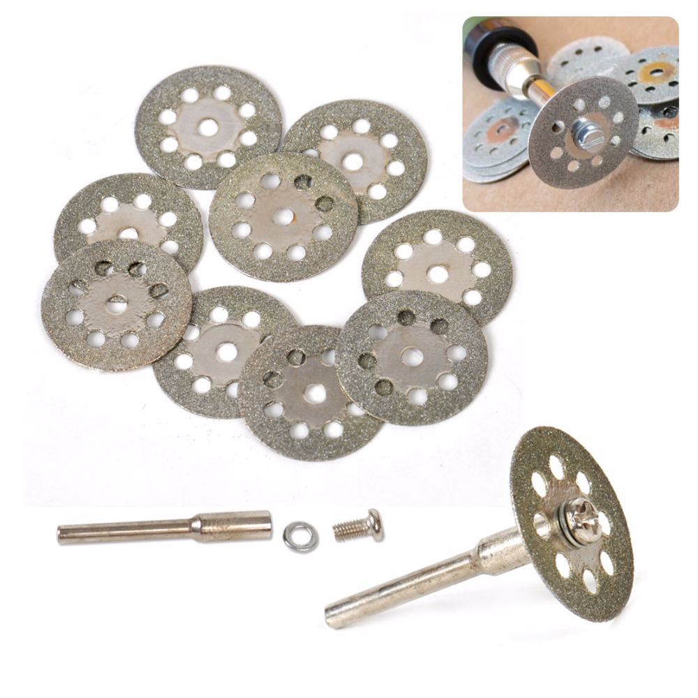 10pcs x 2 Blade Rod Diamond Saw Blade Cutting Sheets With Holes Grinder Electric Drill Accessories Tools Power Tools Saw Blade 12 72 teeth 300mm carbide tipped saw blade with silencer holes for cutting melamine faced chipboard free shipping g teeth