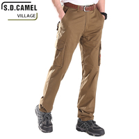 High Elasticity Cargo Pants Men Solid Slim Clothes Multi pocket Casual Pants for Male Fashion Military Trousers Free Shipping