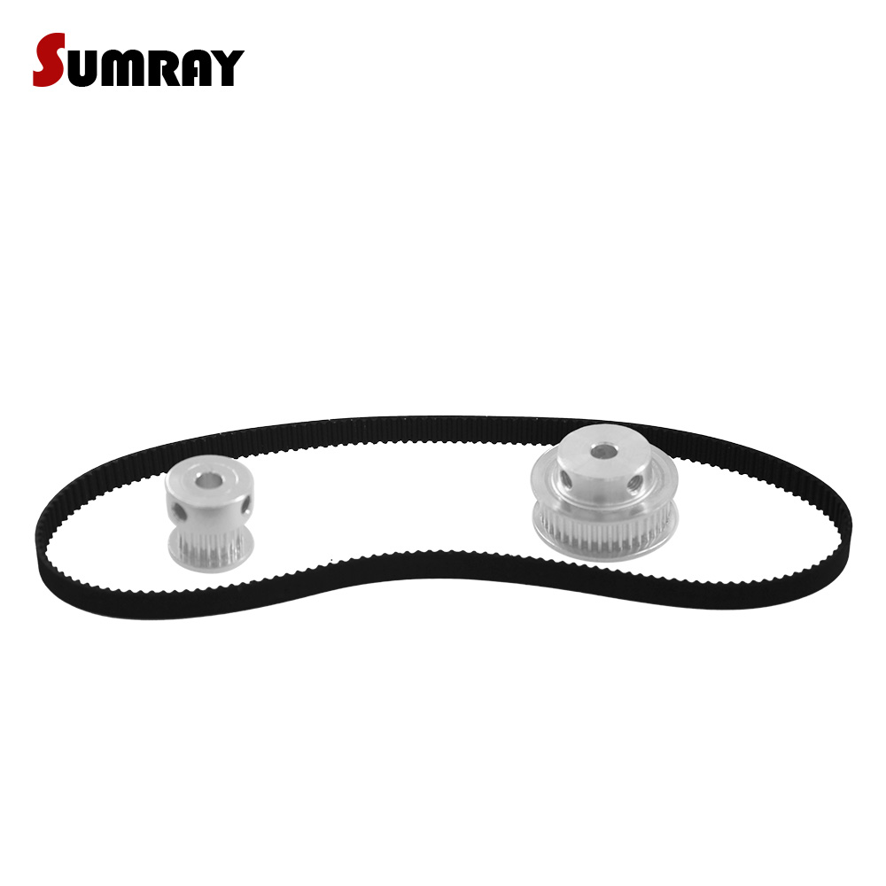 SUMRAY GT2 Timing Pulley Belt Set 2GT 20T 40T Reduction Synchronous Wheel Pulley 40T 20T GT2 Timing Belt GT2-280mm For CNC Part купить недорого в Москве