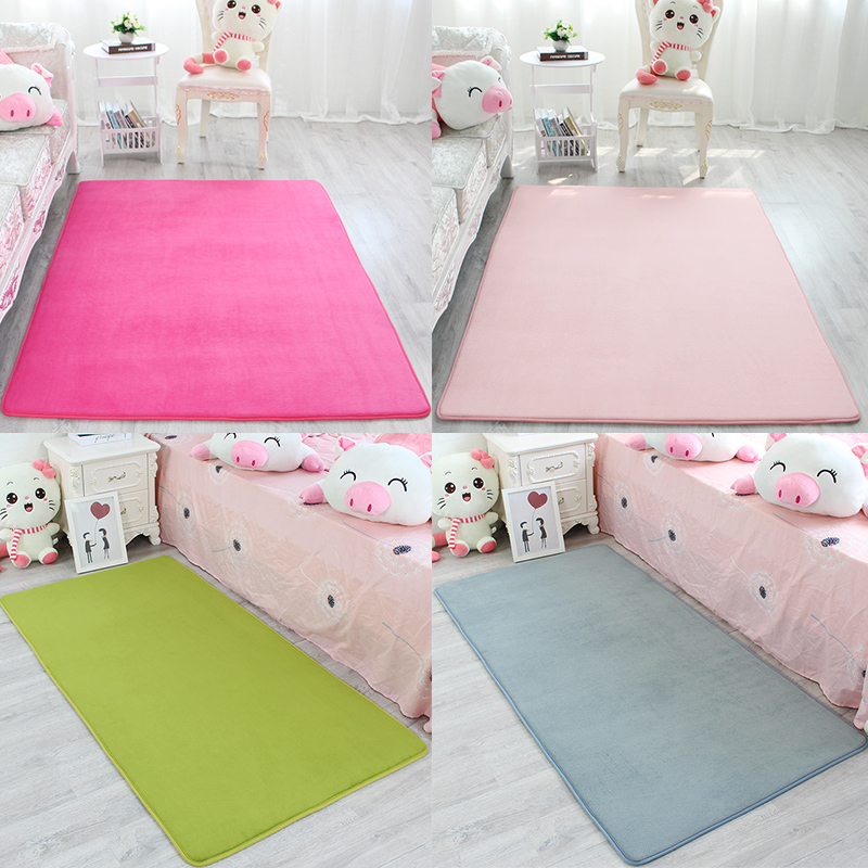 Ultra Soft Thick Memory Foam Absorbent Mat Coral Velvet Kitchen Mat Anti-Slip Bathroom Carpet Kitchen Rug Home Entrance Door Mat
