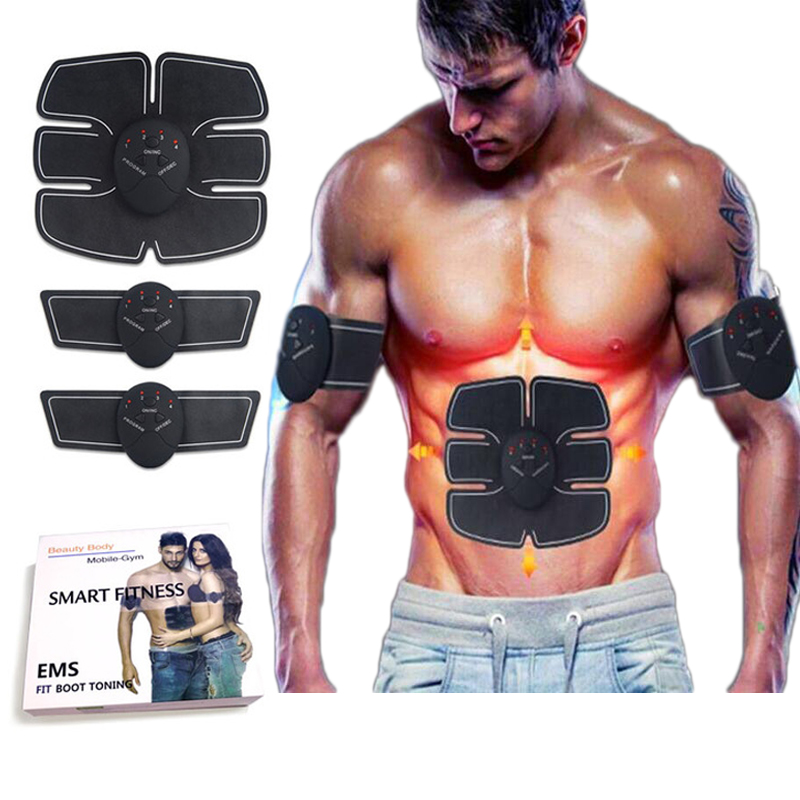 Wireless Smart EMS ABS Electric Pulse Treatment Fitness Massage Abdominal Muscle Trainer Muscle Stimulator Intensive Exerciser