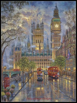 Needlework for embroidery DIY DMC High Quality - Counted Cross Stitch Kits 14 ct Oil painting - London with Big Ben