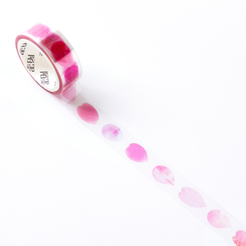 1.5cm 3m 1 Pcs Pink petals Design PET Tape Masking Tape Diy Planner Diary Scrapbooking As Gift Home Decor