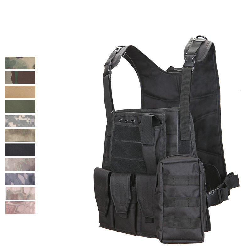 WOLF ENEMY Camouflage Hunting Military Tactical Vest Wargame Body Molle Armor Hunting Vest CS Outdoor Jungle Equipment
