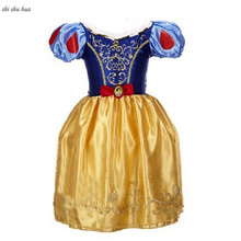 Girl Clothes Gold Line Print Dress Halloween Christmas Princess Vestido Infantil 4-10 Y Child Quality Clothing 2019 Hot Sale
