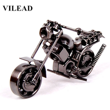 Handicraft arts and crafts kids craft 14cm(5.5) Motorcycle Model Retro Motor Figurine Metal Decoration Handmade Iron Motorbike