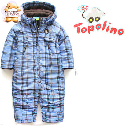 b7cd1c21c3b4e Topolino Baby & kids Winter Warm ski suit snowsuit Romper thickening cotton  padded coats baby clothes free shipping-in Rompers from Mother & Kids