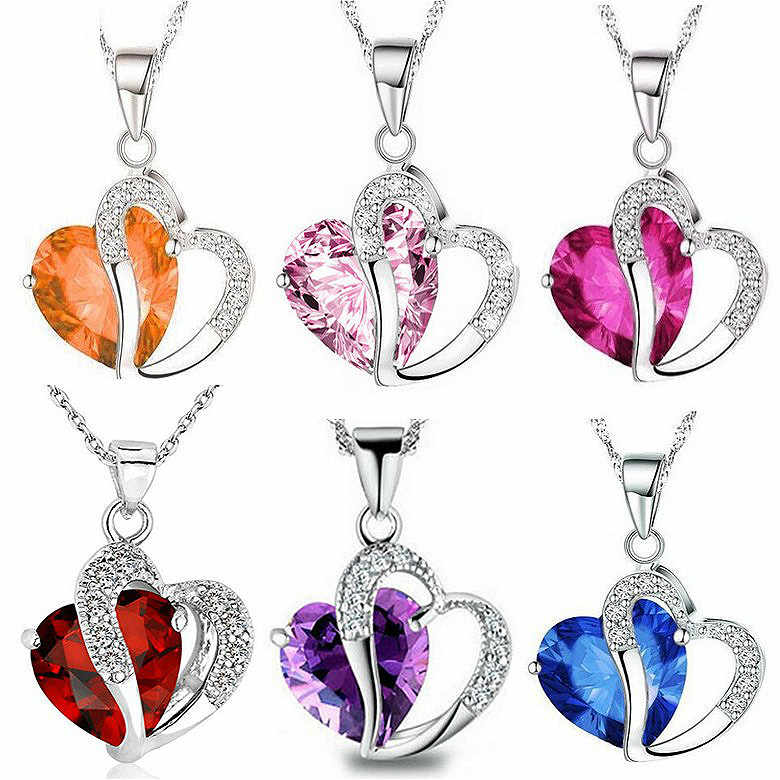 2018 Hot Sell Top Class Fashion Heart Power Necklaces Crystal Jewelry New Girls Women Jewelry