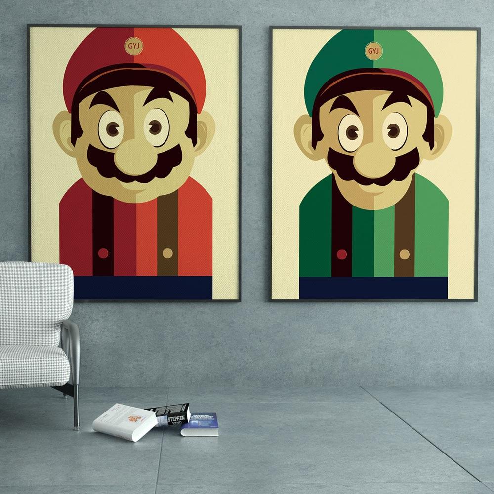 Super Mario Brothers Japanischen Spiel Cartoon Retro pop Kunstdruck ...
