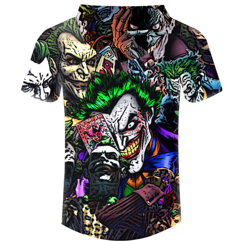 Повседневные толстовки, футболки, аниме, персонаж Джокер, покер, 3D принт, Мужская футболка, Harajuku, хип-хоп, с капюшоном, футболка унисекс, брендовая одежда