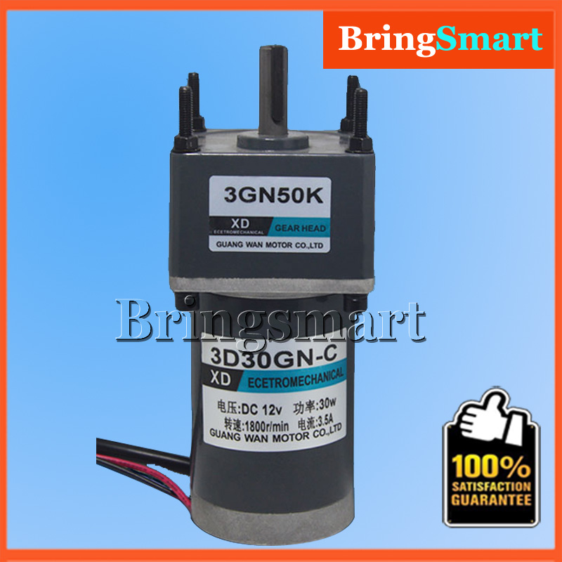 3D30GN-24 DC 12 Volt Motors 24V Gear Motor 3200RPM 90V DC Reduction Geared Motor Low Noise Reversible Speed Regulation 10 50v 100a 5000w reversible dc motor speed controller pwm control soft start high quality