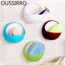 цена на 1Pc Modern Bathroom Wall Suction Cup Toothbrush Toothpaste Holder Kitchen Wall Mount Sucker Soap Gadgets Bathroom Accessories