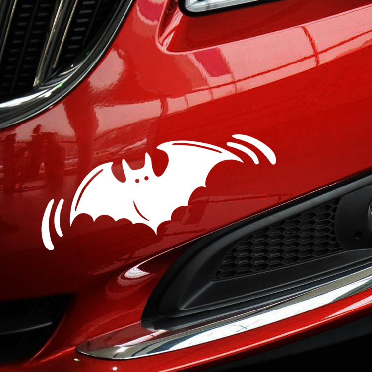 14*5CM Halloween BAT Personalized Car Stickers Decals Pattern Cool Car Stickers Black/Silver CT-619