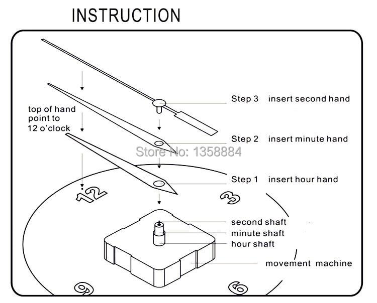 13mm Shaft Length Quartz Clock Movement Quartz Wall Clock Parts