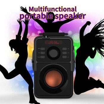 Wireless Bluetooth Speaker Stereo Subwoofer Bass Speakers Column Soundbox Doombox Support FM Radio TF AUX USB Remote Control