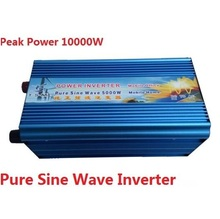 5000W Pure Sine Wave Inverter 12V/24V/48V dc to 120V/220V ac Solar Inverter 3000w solar inverter 24v to 220v pure sine wave inverter car power auto battery voltage converter 12v 48v dc to 110 120v 220v ac