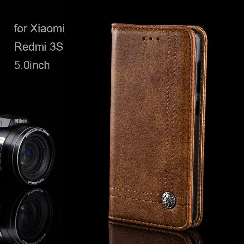 AIORIA Винтаж кожаный чехол для Xiaomi Redmi 3 S 5,0 дюймов Роскошные качества мягкий ТПУ Силиконовые чехлы coque fundas Redmi 3 s без магнит