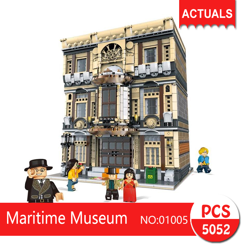 Lepin 01005 5052Pcs Street View series Maritime Museum Model Building Blocks Set  Bricks Toys For Children wange Gift lepin decool 3105 130pcs deformation series super aircraft model building blocks bricks toys for children wange gift