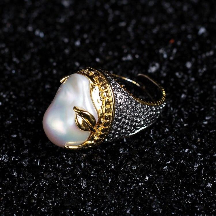 925 Серебряное кольцо с жемчугом Винтажные Ювелирные изделия подарок на заказ Бесплатная доставка