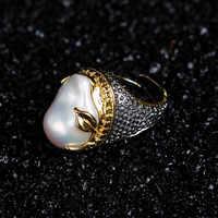 925 Bạc Nhẫn với Ngọc Trai Cổ Điển Trang Sức Đồ Trang Sức Quà Tặng Tùy Chỉnh Miễn Phí Vận Chuyển