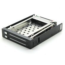 In stock SATA HDD Mobile Rack internal 2 Bay 2.5″ HDD Enclosure for Floppy location free shipping