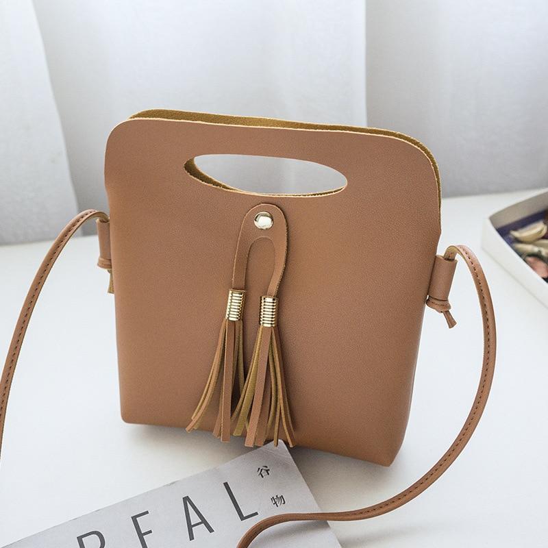 fashion new simple Messenger bag female factory direct handbag shoulder tassel phone bag 0713