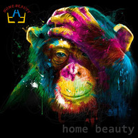 Diy Oil Painting By Numbers Abstract Brush Acrylic Paint Animals Orangutan Decorative Canvas Painting Coloring By