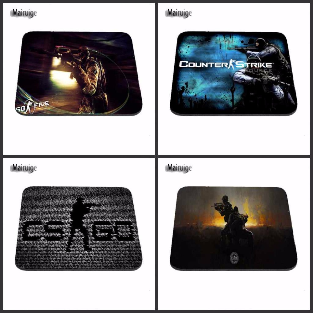 Mairuige Hot Sale Black background Logo Mouse Mat Tubber Cool Non-Skid Desk large size Gaming Mouse Pad 22*18 And 29*25cm