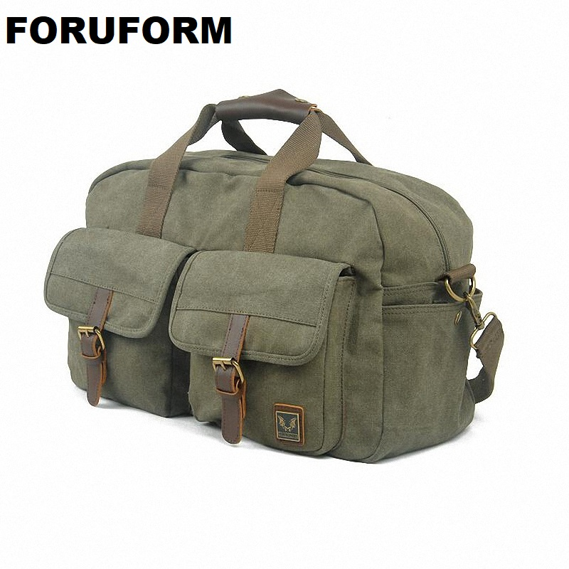 New mens womens Fashion Handbag Casual Canvas Travel Duffle Bags 15 Inches Laptop Travel Bags LI-816
