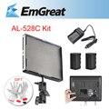 Aputure Amaran AL-528C luz de vídeo Kit CIR 95 + 528 pcs LED estúdio luz + carregador de bateria + 2 x Battery Pack + GIft P0020931
