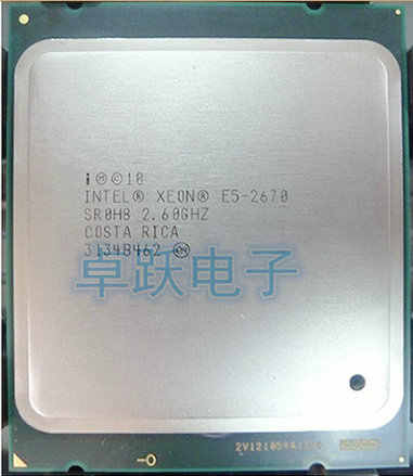 Free Shipping Intel Xeon CPU E5-2670 C1 CPU 2.6GHz LGA 2011 20MB L3 Cache 8 CORE 115W Processor scrattered piece e5 2670
