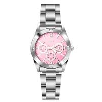 Часы с розовым циферблатом