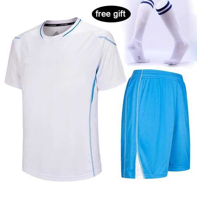 FREE SOCKS Children Football Jerseys Boys Soccer Clothes Sets mens soccer Training jersey kits customize Cheap 18/19 Tracksuit