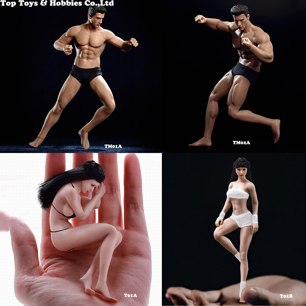 Full Set Body With Head Pants PH2019-TM01A / PH2019-TM02A TBLeague 1/12 Scale Super Flexible Male Seamless Body Toy Collection