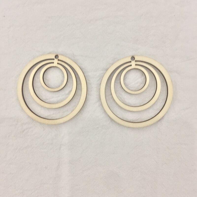 50x geometric circle laser cut wood earrings  diy
