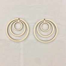 50x geometric circle laser cut wood earrings  diy