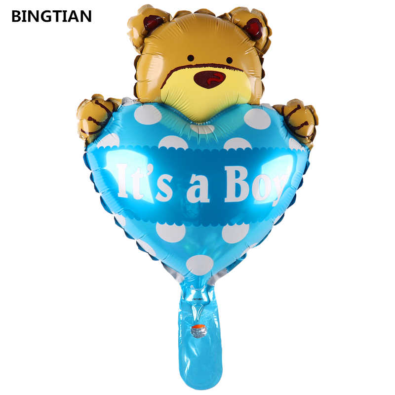 BINGTIAN niedźwiedź balony cartoon dekoracja urodzinowa to chłopiec i dziewczyna balony foliowe klasyczne zabawki balon