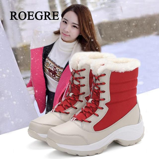 57b24c911 Aliexpress.com : Buy 2018 new Women boots non slip waterproof winter ankle  snow boots student women platform winter shoes with thick fur botas mujer  ...