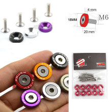 JDM Style Fender Washers (10pcs/Pack) Aluminum Washers And Bolt For Honda Civic Integra RSX EK EG DC QRF001(China)