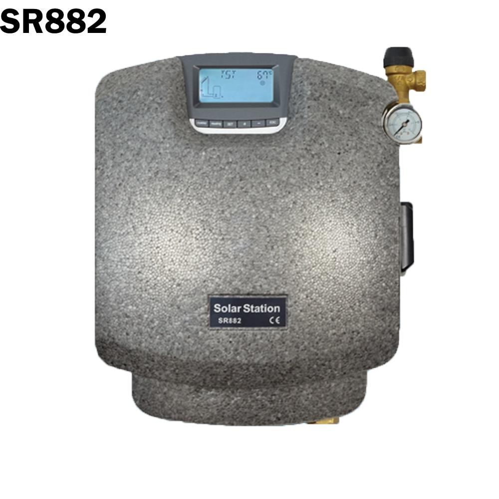 SR882 Double pipeline Station de pompage solaire système de chauffage de l'eau Station Pmp