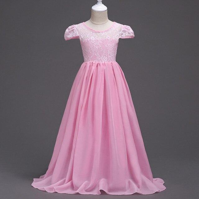 Princesa fiesta de cumpleaños niñas vestidos para la edad 4 6 8 10 ...