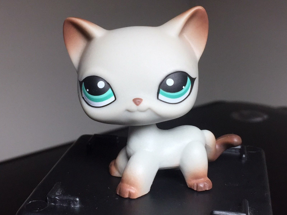 New Pet Collection Figure LPS #391 LPS Short Hair Egyptian Grey Blue Eyes Christmas Gift cute pet rare color sausage short hair dog action figure girl s collection classic anime christmas gift lps doll kids toys
