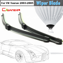 Cawanerl Car Soft Rubber Wiper Blade 1Pair For VW Volkswagen Touran 2003-2005 Auto Wiper Blades Window Windshield