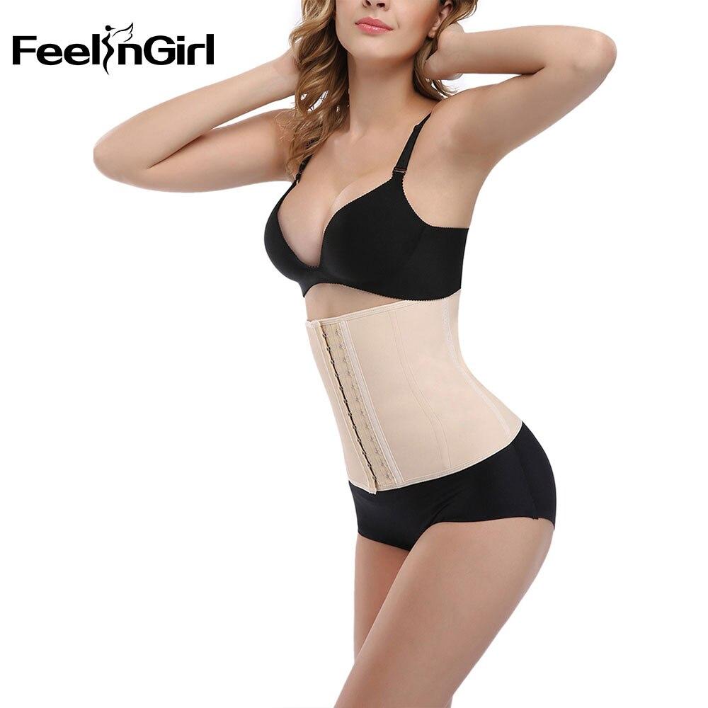 FeelinGirl Women Waist Trainer Cincher Lose Weight Burning Shapewear Sexy Body Shaper For Women-E
